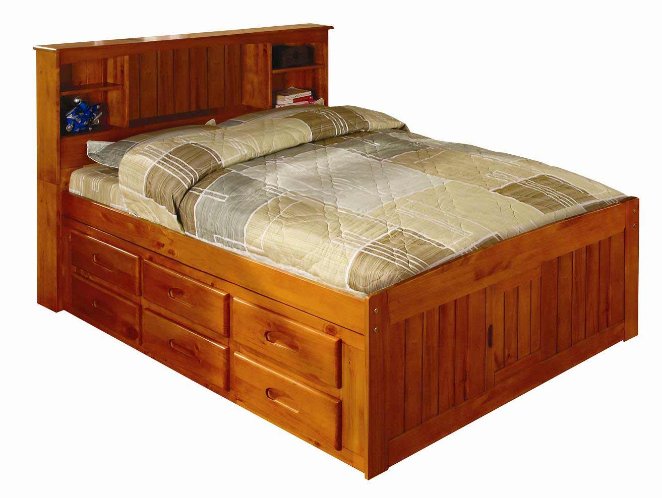 Full size captain beds for kids feel the home for Captains bed