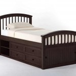 Talsma chocolate children captain bed with storage