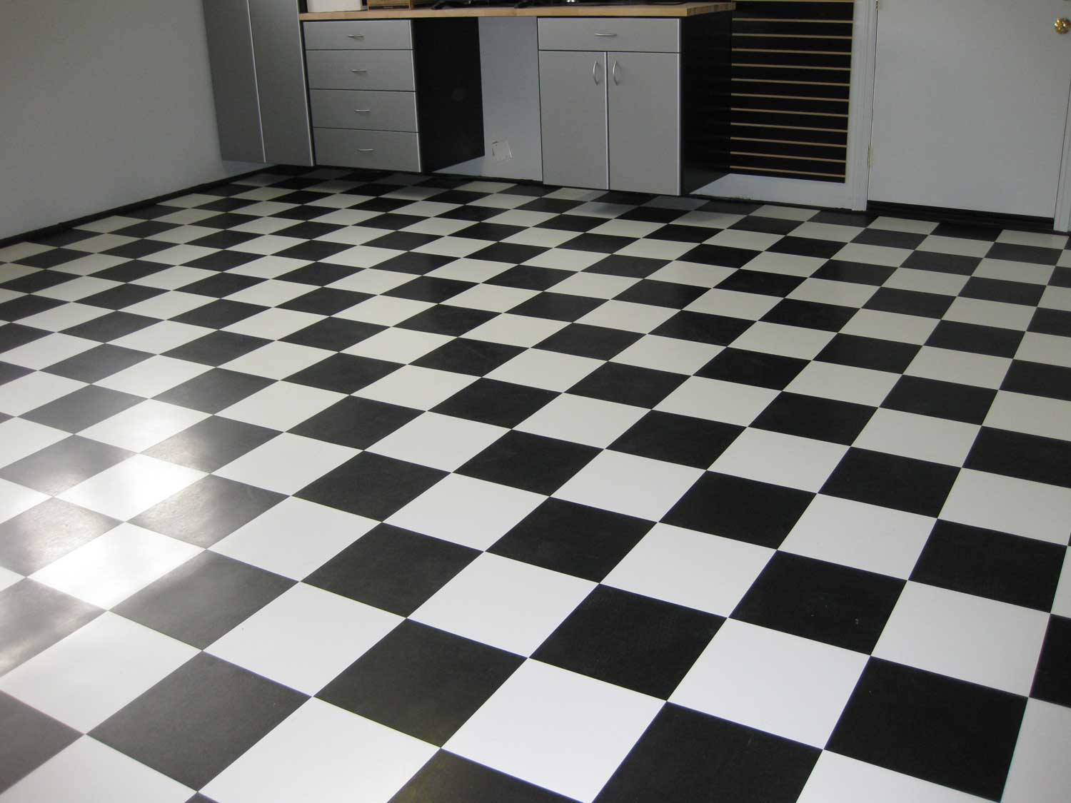 VCT Black and White Home Tile Flooring