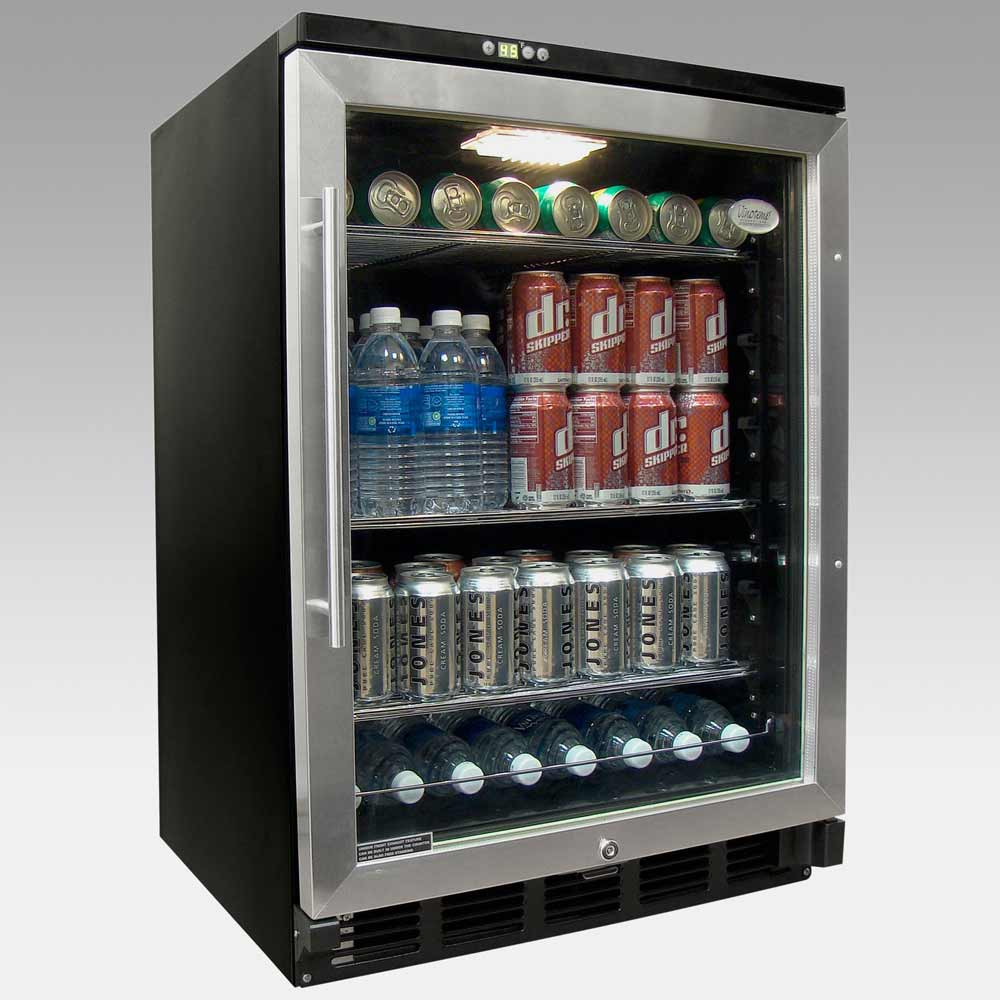 Vinotemp Beverage Cooler Refrigerator in Black