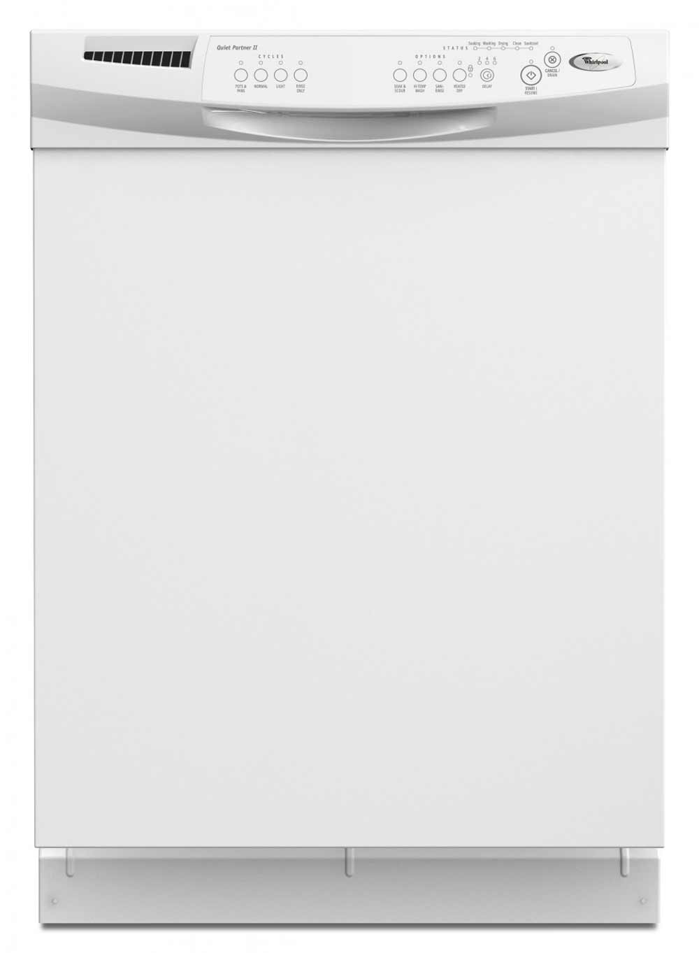 Whirlpool White Tall Tub with Built In Dishwasher