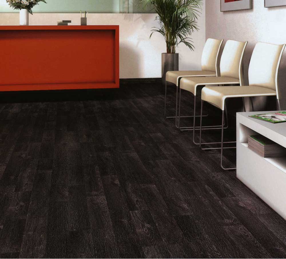 Black Wood Planks ~ Black wood flooring feel the home