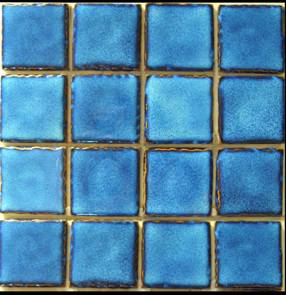 Navy subway tile