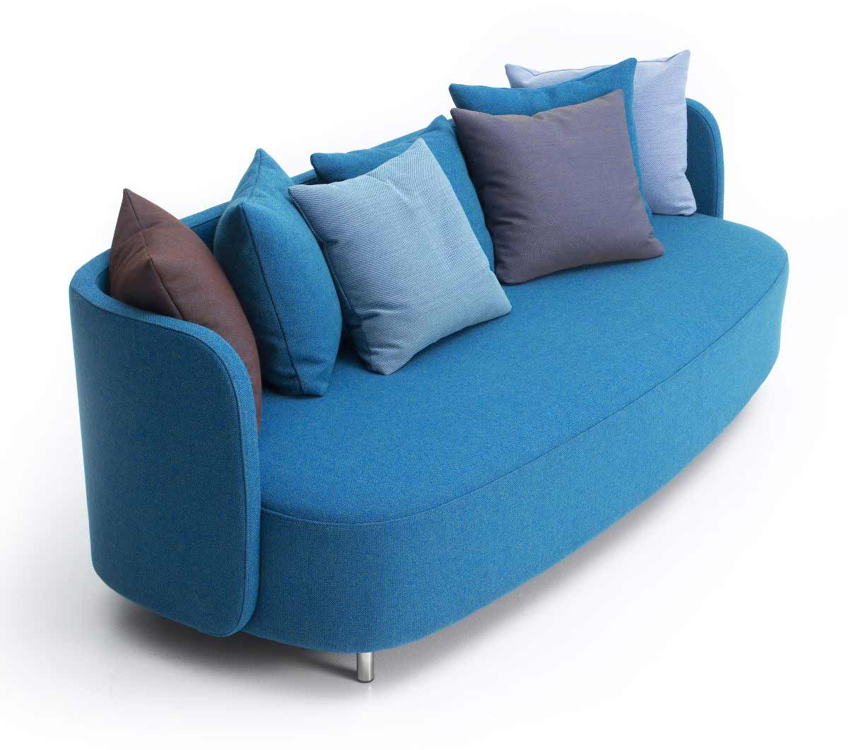 Blue leather couches feel the home Unique loveseats