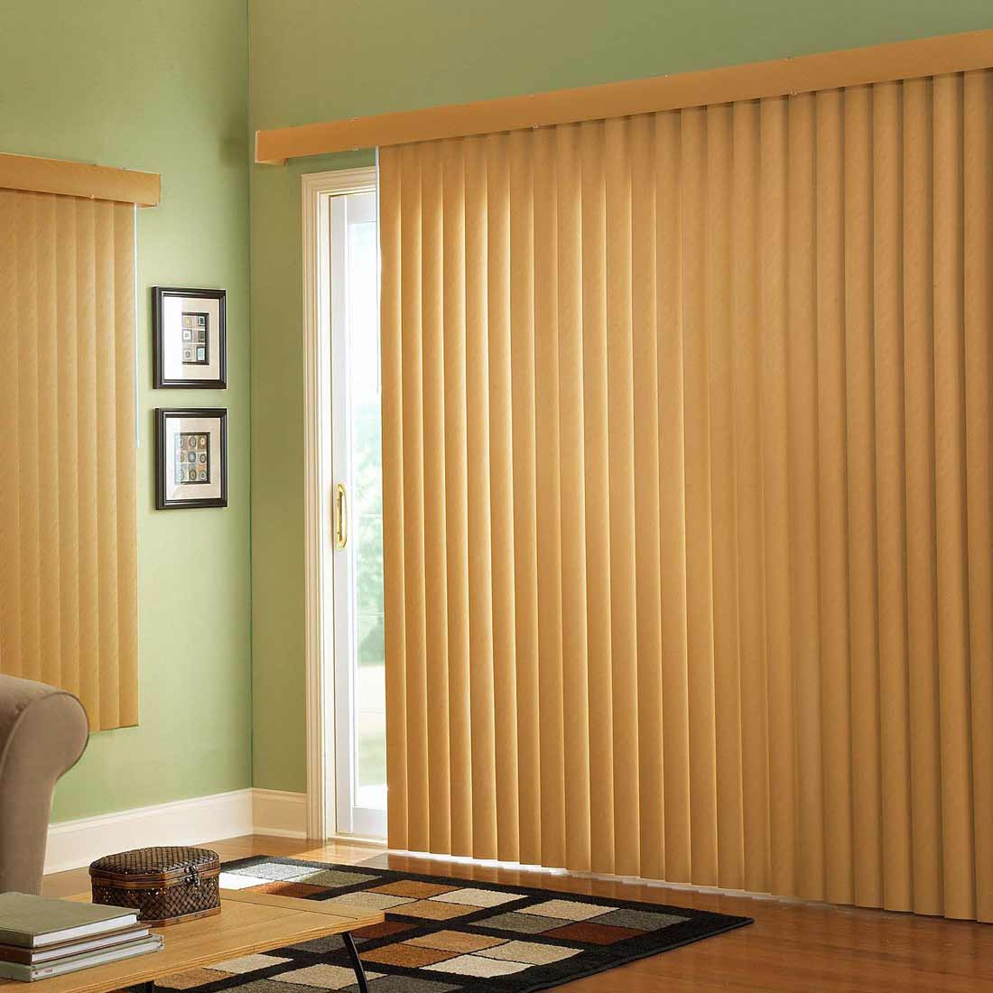 Sliding patio door blinds sliding glass doors with for Cheap sliding glass doors