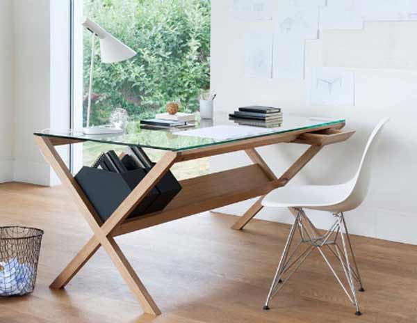 home office glass desk cover
