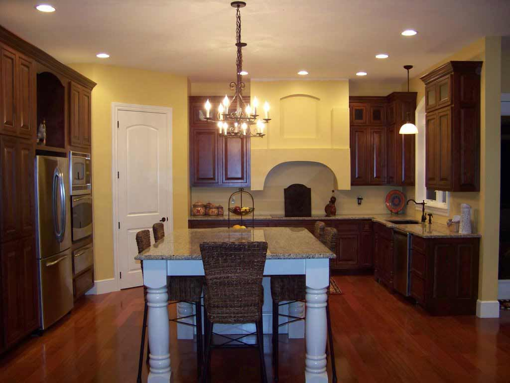 Oak hardwood flooring feel the home for Floor kitchen cabinets