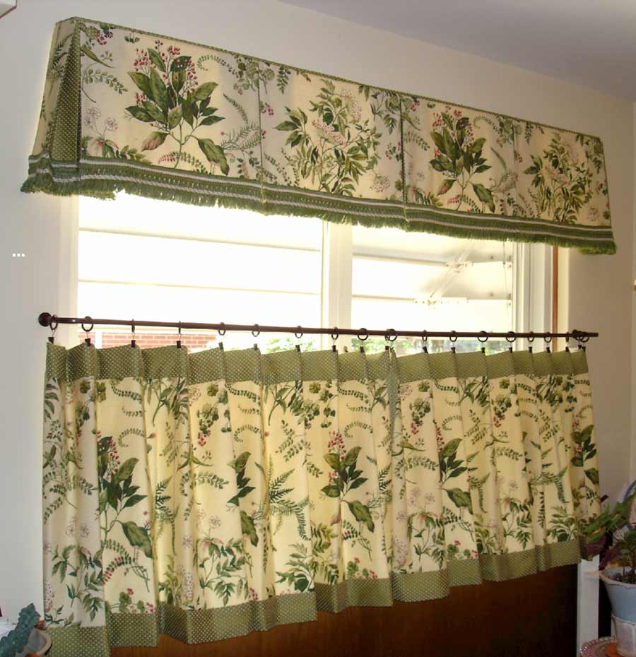 Green Kitchen Curtain Ideas: How To Make Cafe Curtains For Kitchen