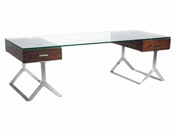 zara home glass desk with cover