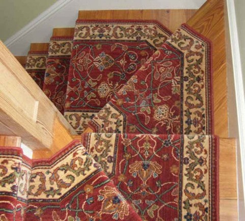 Big step Peykar carpet stair runner