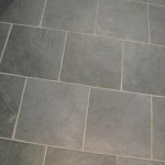 Black slate porcelain brick tile design