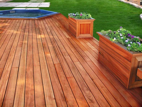Brazilian KOA Tigerwood Flooring Tub
