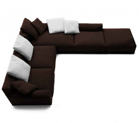 Brown Fabric Sectional Couches