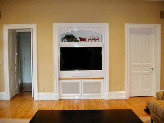 Built in Wall Simple TV Cabinets