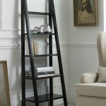 Canton Black Lacquered Ladder Signature Bookcases