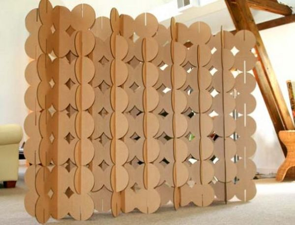 Cardboard Room Divider Screen