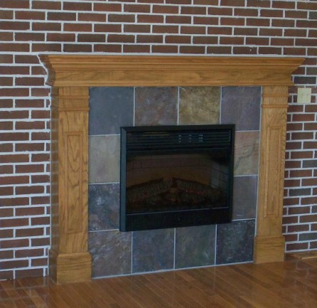 Classic brick tile for fireplace