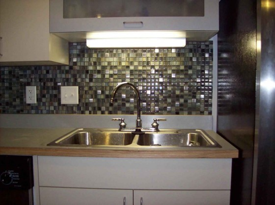 Cheap stainless steel backsplash feel the home Kitchen backsplash ideas stainless steel