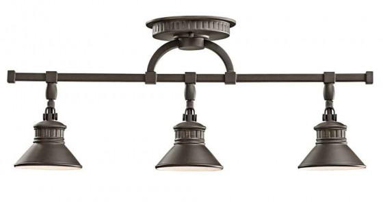 Kichler bronze track lighting with 3 light