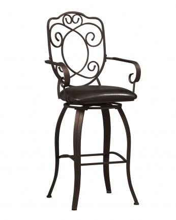 Linon Cheap Crown Back Bar Stools