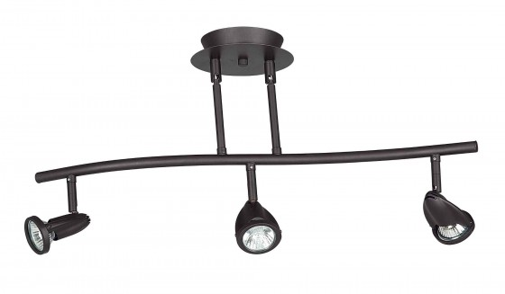 Oiled Bronze Dual Stem Track Light Fixture