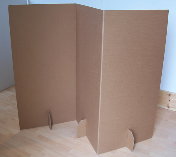 build cardboard room divider feel the home. Black Bedroom Furniture Sets. Home Design Ideas