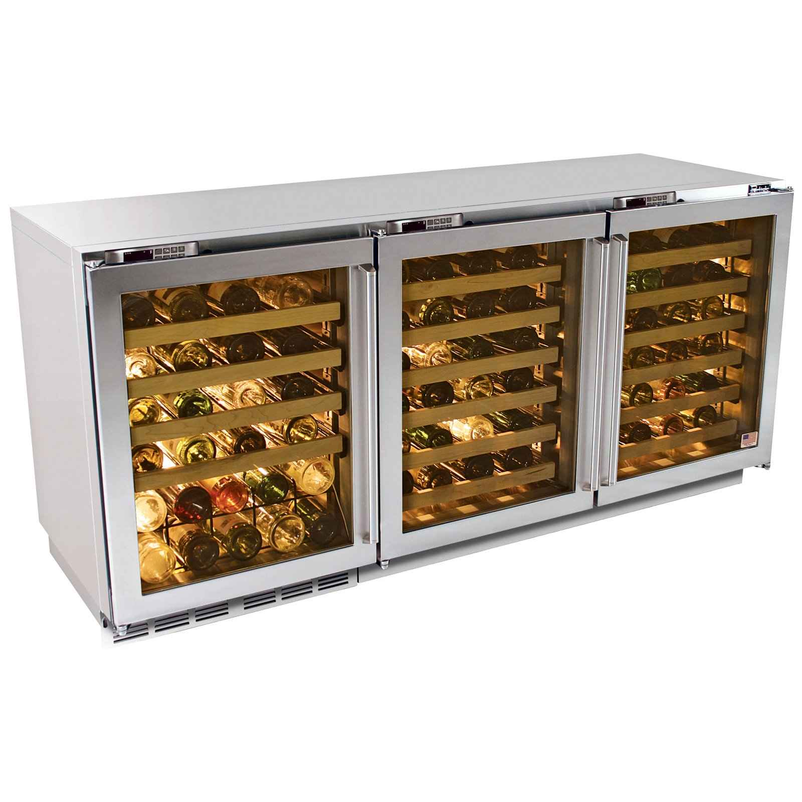 Built in wine refrigerator furniture design for Decor wine cooler