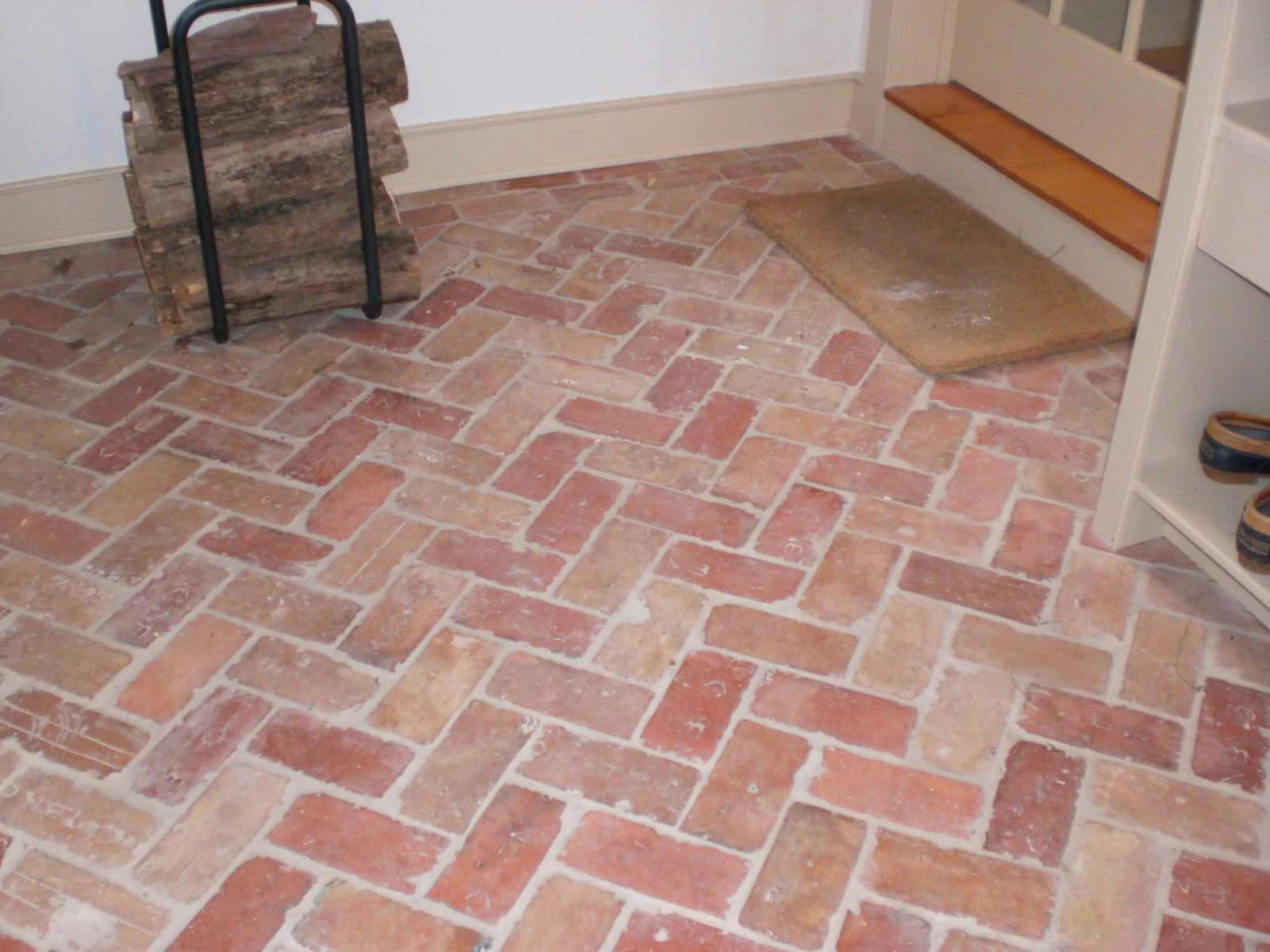 Brick kitchen flooring feel the home for At floor or on floor