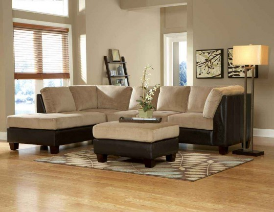 Brown leather sectional sofa feel the home for Brown couch decorating ideas