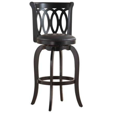 Scrollback Black Swivel Cheap Bar Stools with Backs