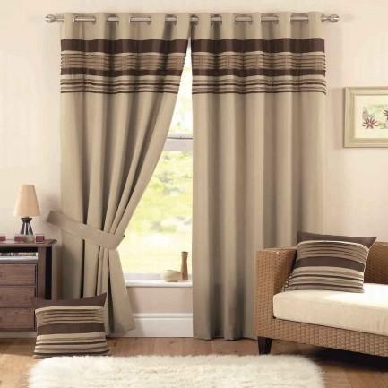 Toronto home sheer tab brown curtain and drapes