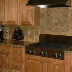 Tumbled Stone Kithcen Backsplash Design
