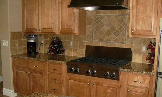 Tumbled Stone Kithcen Backsplash Design