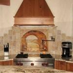 Tuscany tumbled stone marble kitchen backsplash