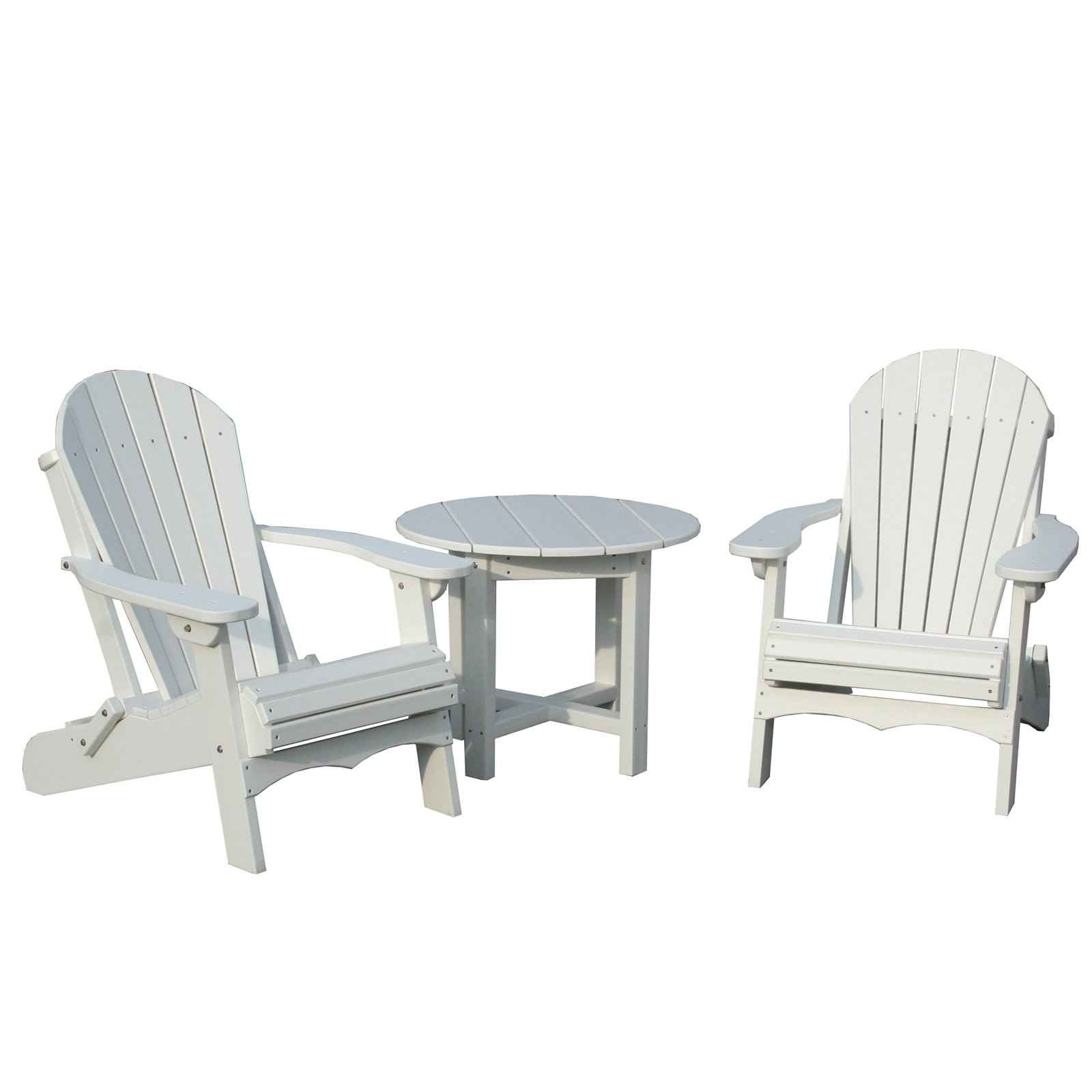 vifah adirondack white plastic tables and chairs set