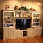 custom built in wooden entertainment center
