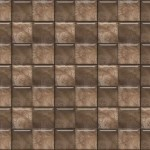 light brown butterfly flower tile motif