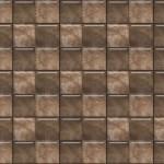 light brown butterfly flower tile motif