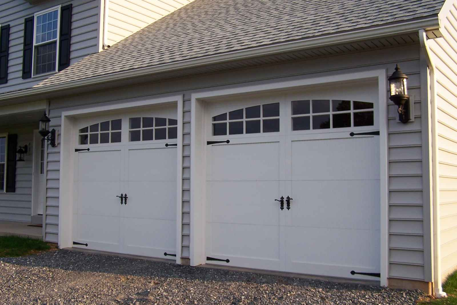 Home depot garage doors feel the home for Two door garage