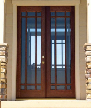 Custom Home Office Wooden Entry Doors