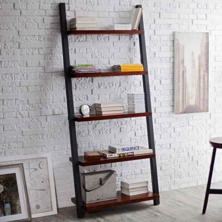 Dakka 5-Tier Decorative Leaning Bookcase