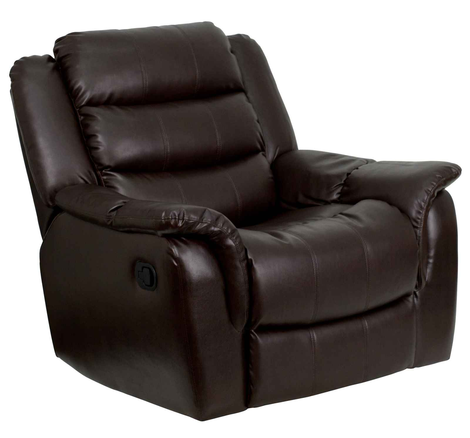 flash furniture massaging black leather recliner and ottoman