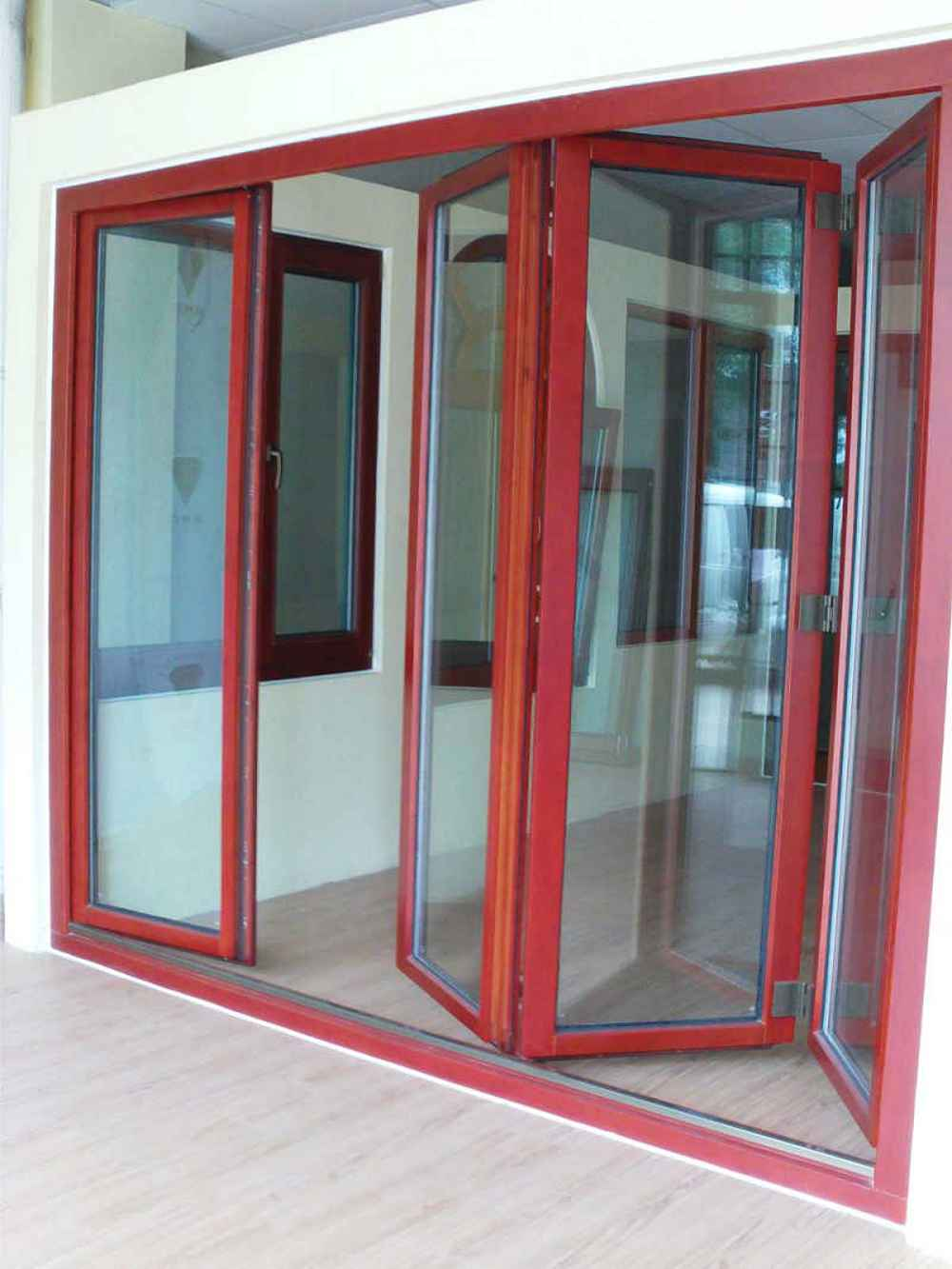 Glass Folding Door Panels with Solid Oak Frame