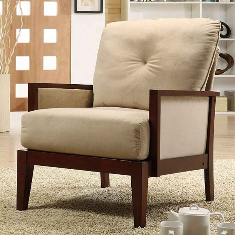 Oxford Creek Velvet Accent Brown Living Room Chairs