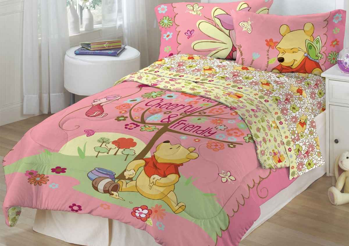 Pink Pooh Bedding Set for Teen