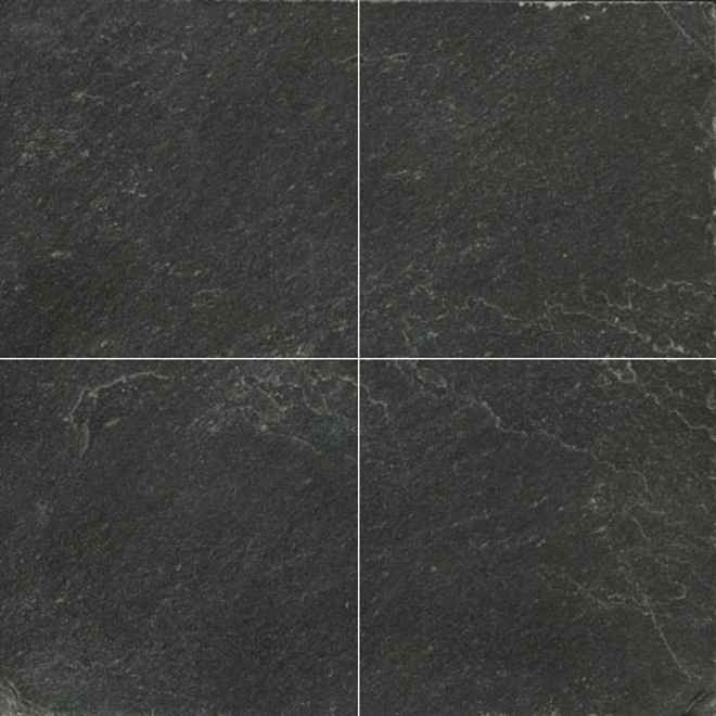 Cheap slate tile flooring ideas for Black floor tiles for kitchen