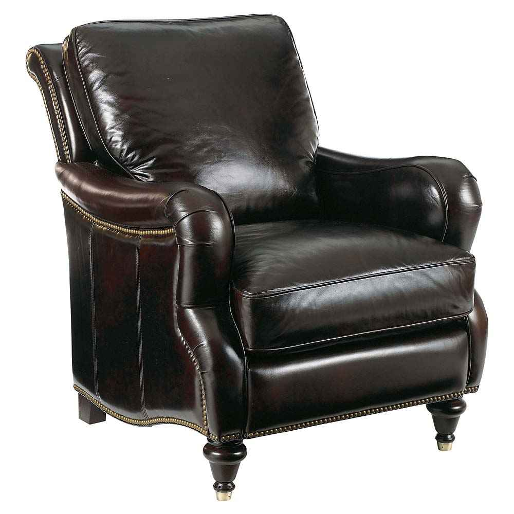 Bassett brown leather accent chair