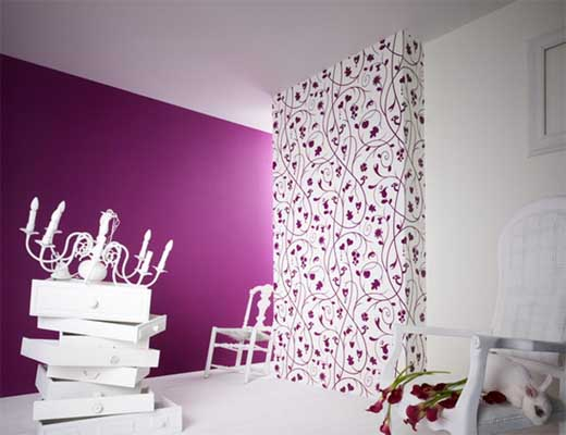 Designer wallpaper walls feel the home for Purple wallpaper for walls