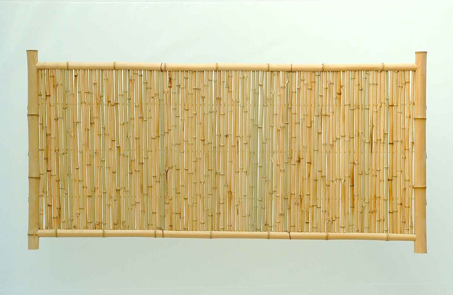 Outdoor bamboo divider panel