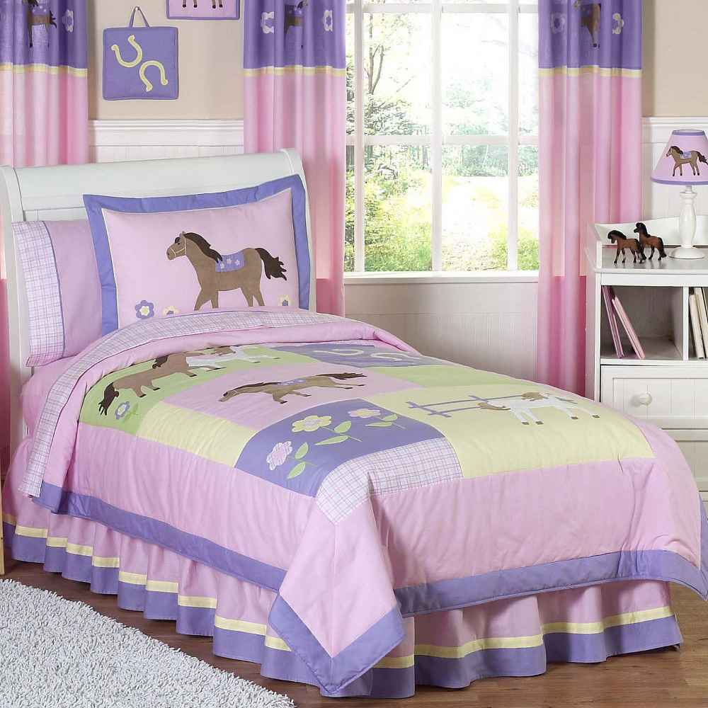 Purple and Pink Little Pony Twin Bed
